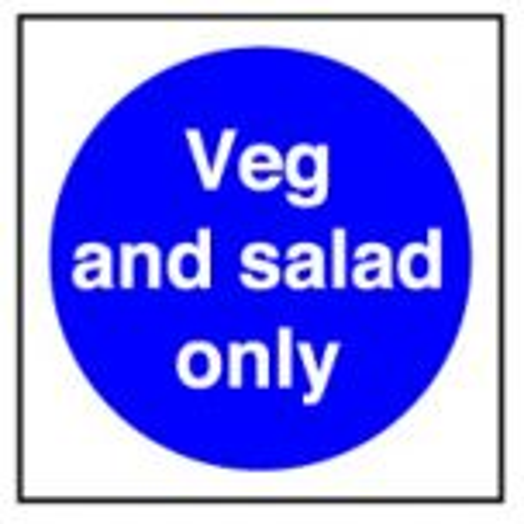 Veg & Salad Only Sticker 10x10cm