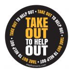 Take Out to Help Out Round Label 100mm