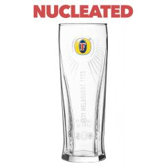 Toughened Fosters Branded Pint Beer Glass Nucleated CE 20oz / 57cl