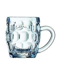 Panelled Dimple 1/2 Pint Glass Tankard CE 10oz / 28cl