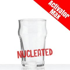 Toughened Nonic 1/2 Pint Beer Glass Nucleated CE 10oz / 28cl