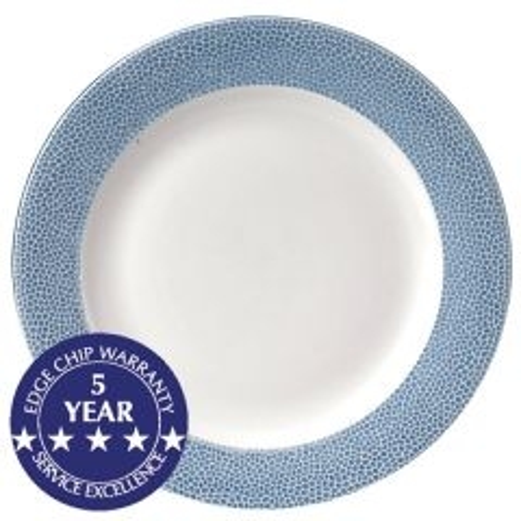 "Churchill Isla Ocean Blue Footed Plate 12"" / 30.5cm"