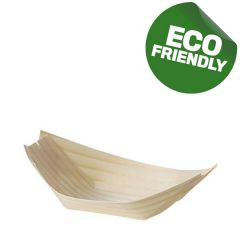 Disposable Wooden Bamboo Boat 11.5x7cm