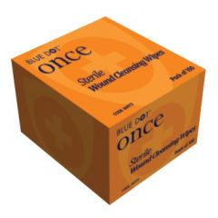 Once Sterile Moist Saline Cleansing Wipes