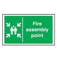 Fire Assembly Point Exterior Notice 40x60cm