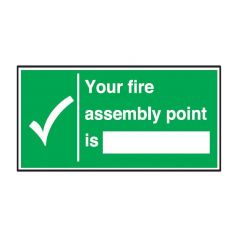 Your Fire Assembly Point Sticker 15x30cm