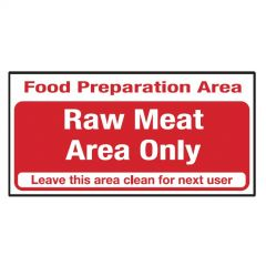 Red Raw Meat Area Only Sticker 10x20cm