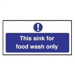 This Sink For Food Wash Only Sticker 10x20cm