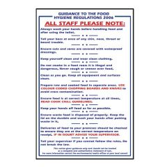 Guidance To The Food Safety Act 1995 Sticker 30x20cm