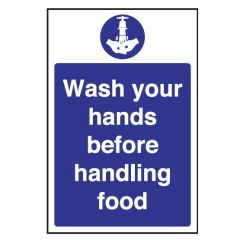Wash Your Hands Before Handling Food Sticker 30x20cm