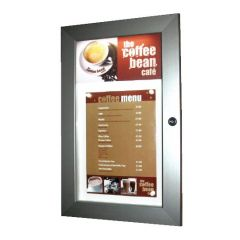 Menu Case Illuminated 2 x A4 with Additional Header Area 355x567x32mm