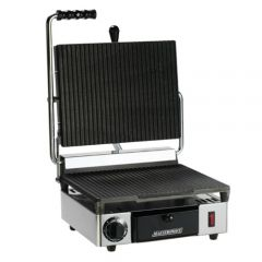 Maestrowave Single Ribbed Non Stick Panini Contact Grill (WxDxH) 310x380x460mm
