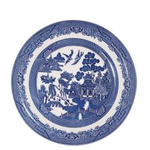 "Churchill Willow Pattern Salad Plate 8"" / 20cm"