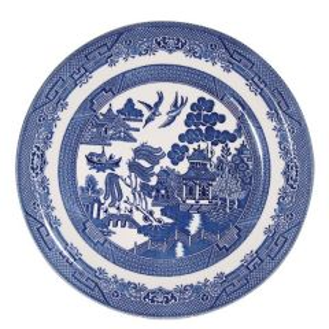 "Churchill Willow Pattern Dinner Plate 10.25"" / 26cm"