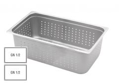 Stainless Steel Perforated Gastronorm 1/2 100mm