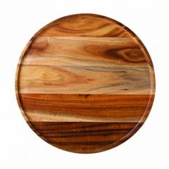 """Acacia Wood Round Platter / Pizza Plate 12"""" / 30cm"""