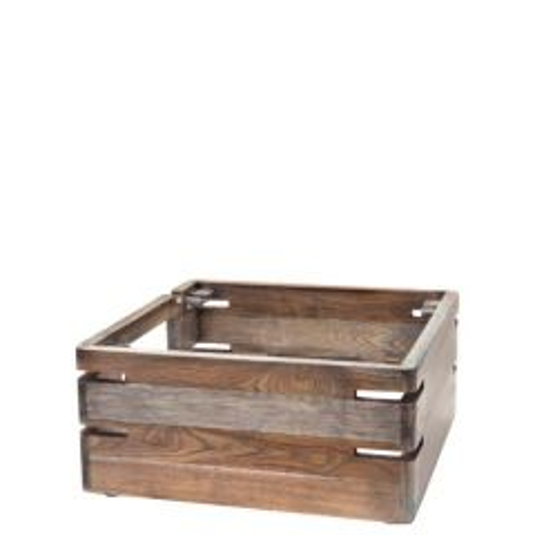 "D.W. Haber Fusion Ash Grey Teak Wooden Buffet Riser 14x14x7"" / 35.6x35.6x17.8cm"