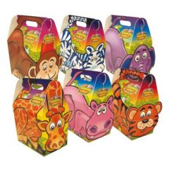 Disposable Childrens Mixed Jungle Animal Meal Boxes 132x92x200mm