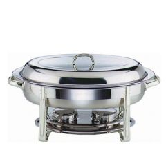 "Stainless Steel Oval Chafing Dish 20"" / 50cm"