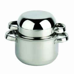 """Stainless Steel Mussel Pot 6.66"""" / 17cm 60oz / 170cl"""