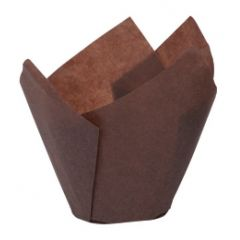 Tulip Shape Brown Muffin Cases