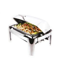 Electric Chafing Dish Roll Top Stainless Steel 78x48x42cm 13.5ltr