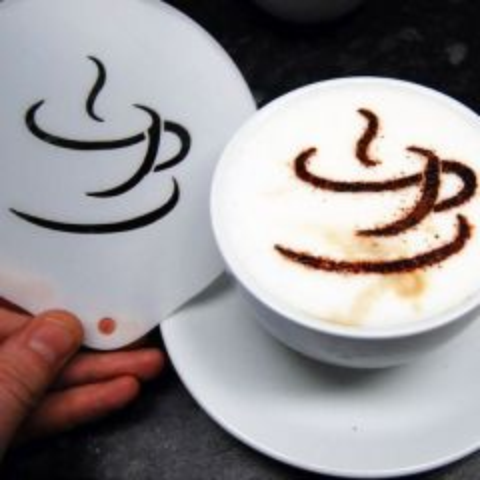Coffee Cup Plastic Coffee Stencil