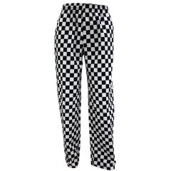 Black and White Checkerboard Chefs Trousers Medium 32-34""