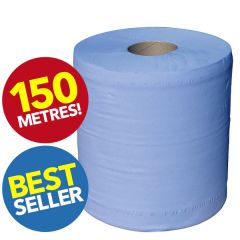 CaterBar Blue Centrefeed Barrel Roll 2ply 150m