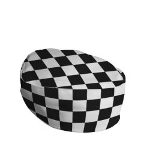 Checkerboard Polycotton Skull Cap Small