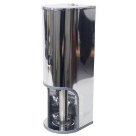 Stainless Steel 3 Roll Premium Domestic Toilet Roll Dispenser