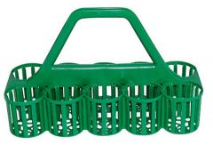 Green 10 Slot Glass Collecting Crate