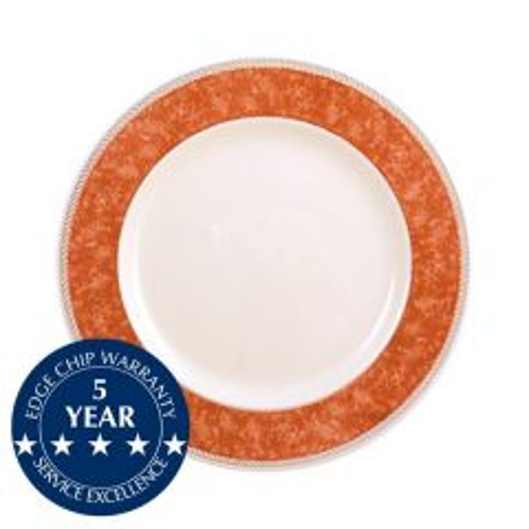 "Churchill New Horizons Orange Border Plate 8"" / 20.3cm"
