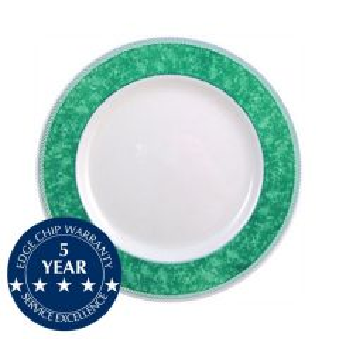 "Churchill New Horizons Green Border Plate 8"" / 20.3cm"