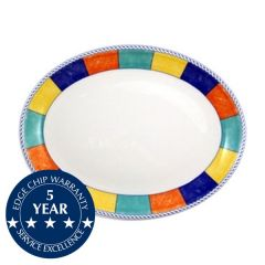 "Churchill New Horizons Check Border Oval Plate 12"" / 30.5cm"