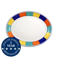 "Churchill New Horizons Check Border Oval Plate 10"" / 25.4cm"