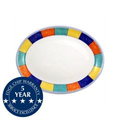 "Churchill New Horizons Check Border Oval Plate 8"" / 20.3cm"