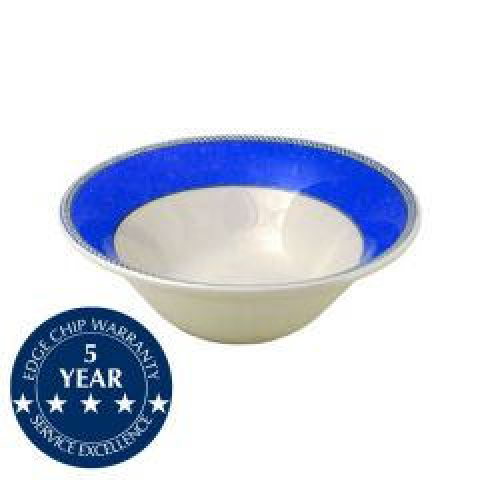 "Churchill New Horizons Blue Border Salad Bowl Medium 8.375"" / 21.3cm"