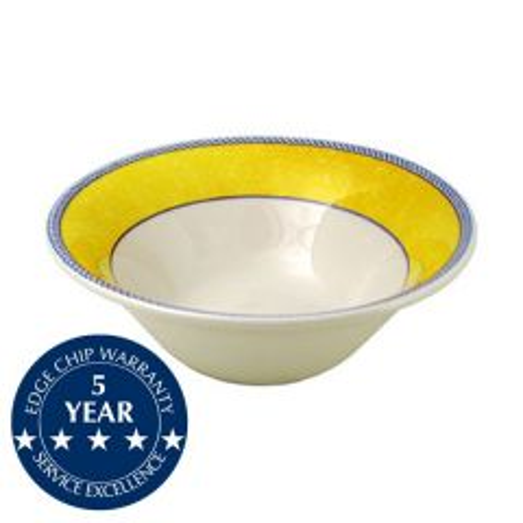 "Churchill New Horizons Yellow Border Salad Bowl Large 9.875"" / 25.2cm"