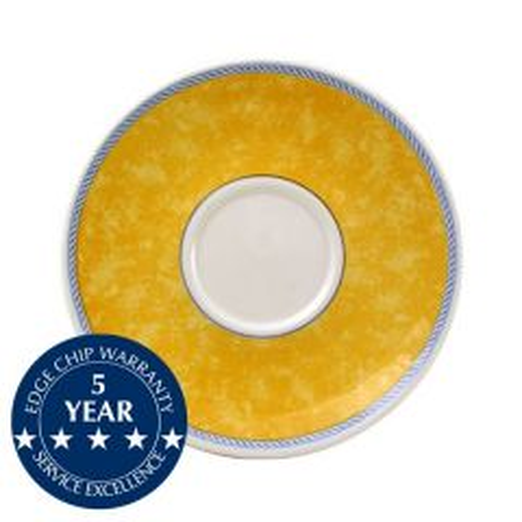 "Churchill New Horizons Yellow Border Cappuccino Saucer 6.25"" / 15.6cm"