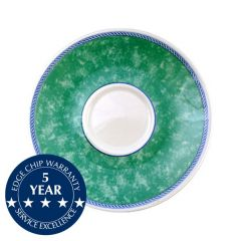 "Churchill New Horizons Green Border Cappuccino Saucer 6.25"" / 15.6cm"