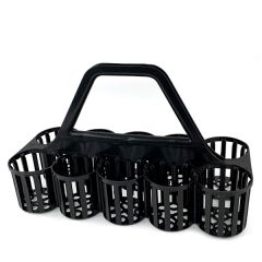 Black 10 Slot Glass Collecting Crate