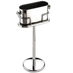 Stainless Steel Oval Wine Bucket & Stand