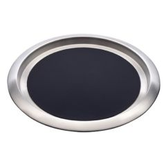 """Elia Delux Stainless Steel Round Tray With Non-Slip Insert 16"""" / 41cm 18/10"""