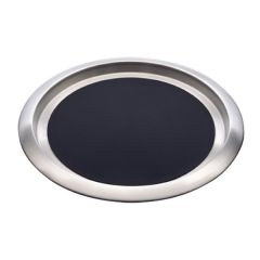 """Elia Delux 18/10 Stainless Steel Round Tray with Non-Slip Insert 14"""" / 36cm"""
