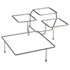 "Large Buffet Stand Chrome Plated for 4 Bowls 15.33x15.33x6.66""/39x39x17cm"