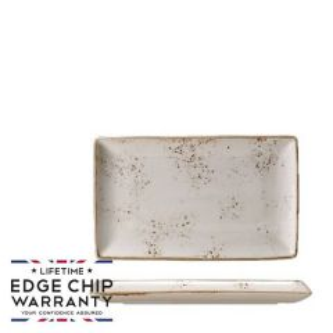 "Steelite Craft White Rectangle One Plate 10.625x6.5"" / 27x16.75cm"