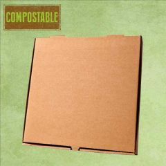 """Compostable Plain Brown Cardboard Pizza Delivery Box 9"""" / 24cm"""