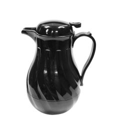 Black Swirl Insulated Beverage Server with Push Button Lid 40oz 1.12Ltr