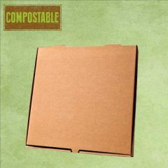 """Compostable Plain Brown Cardboard Pizza Delivery Box 7"""" / 19cm"""